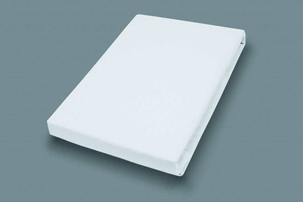 Socratex Premium Jersey Spannbetttuch mit Elastan | extra hoch | Weiß