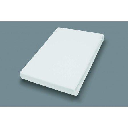 Socratex Premium Jersey Topper Spannbetttuch mit Elastan |  Weiß
