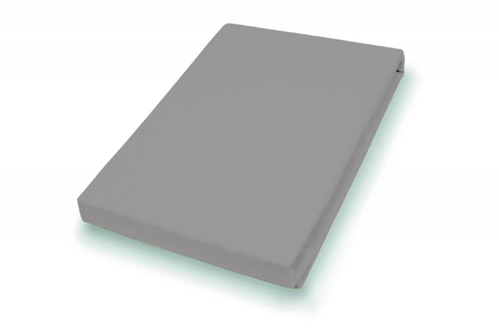 Socratex Premium Jersey Topper Hoeslaken met elastaan | kiezel