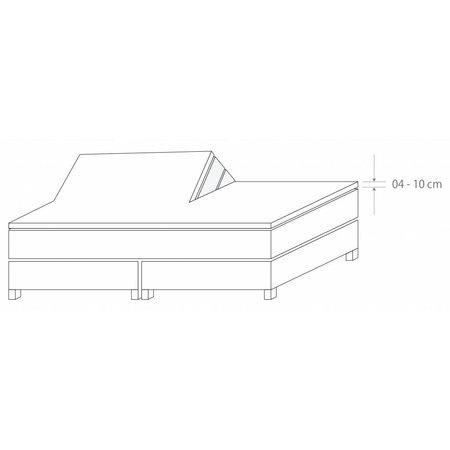 Socratex Premium Jersey Split-Topper Hoeslaken met elastaan | kiezel |