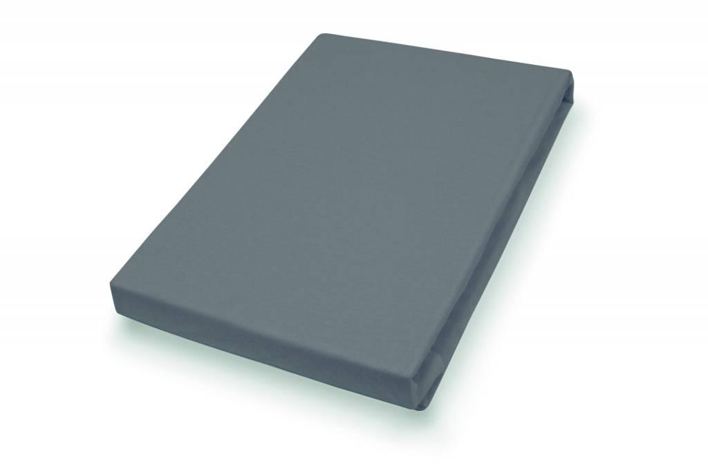 Socratex Premium Jersey Topper Bezug mit Split Anthrazit, 180-200 x 200-220 cm