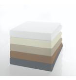 Socratex Premium Jersey Split-Topper Spannbettlaken mit Elastan | Ecru |