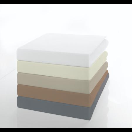 Socratex Premium Jersey Spannbetttuch mit Elastan | extra  hoch | Ecru