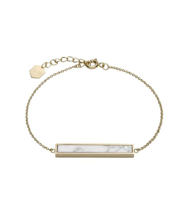 Cluse Idylle goldenes Armband mit Marmorstab