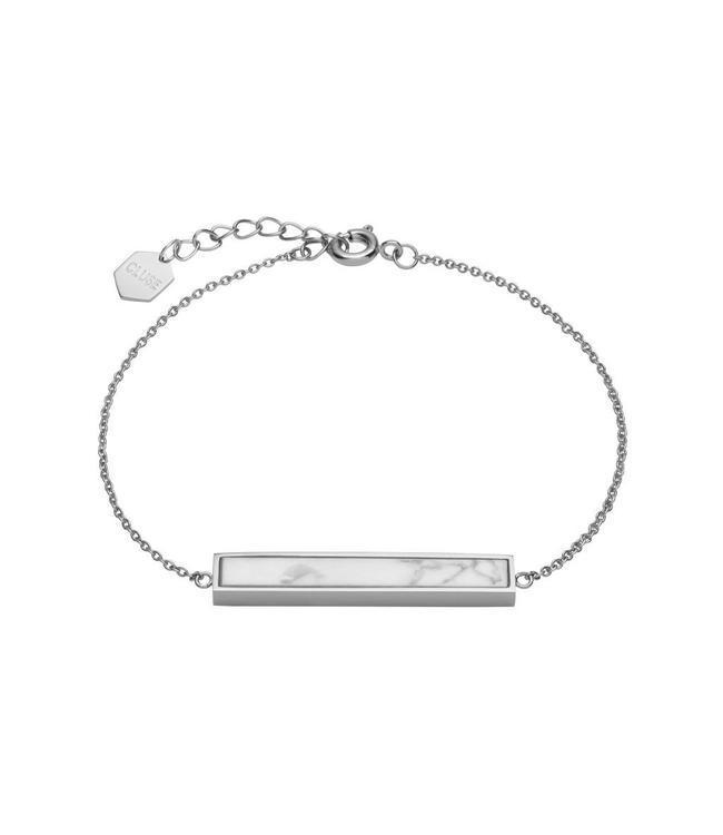 Cluse Idylle silbernes Armband mit Marmorstab