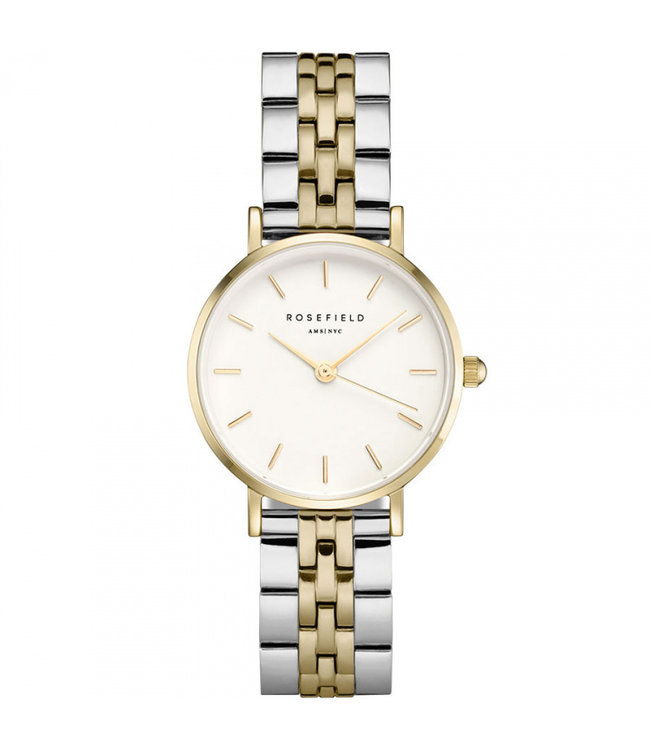 Rosefield The Small Edit White Steel Silver Gold Duo - 26SGD-269