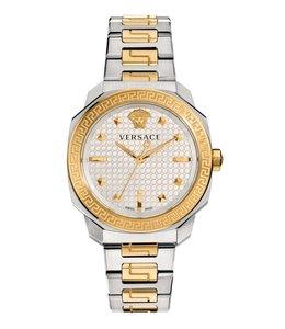 Versace Damen Dylos Lady, Edelstahl und Gold