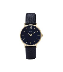 Cluse Minuit Gold Black/Midnight Blue CL30014
