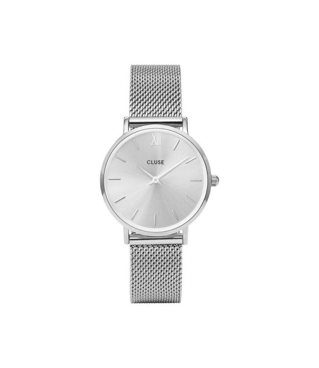 Cluse Minuit Mesh Full Silver CW0101203011