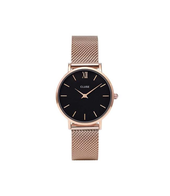Cluse Minuit Mesh Rose Gold/ Black CW0101203003