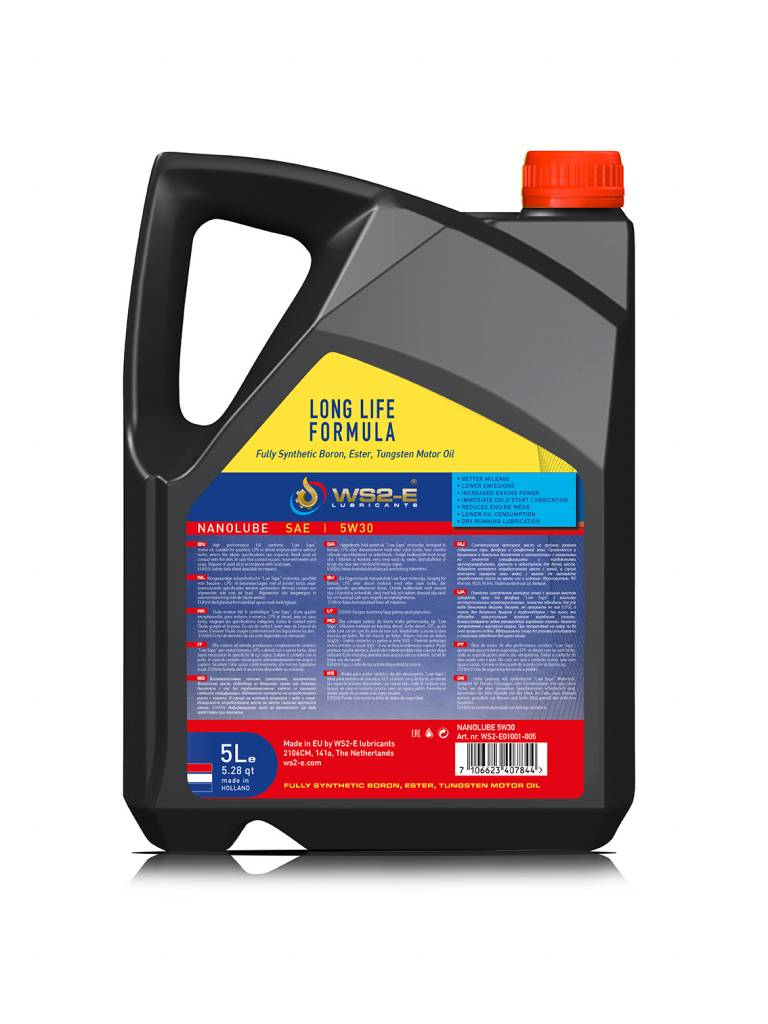 WS2-E Nanolube 5W30 *1 liter motorolie