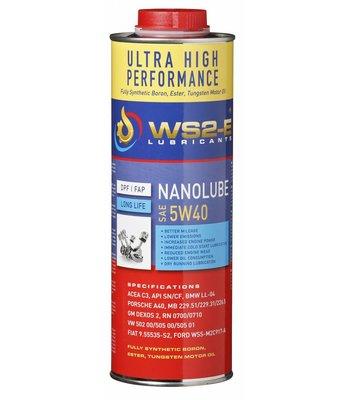 WS2-E Nanolube 5W40 motorolie
