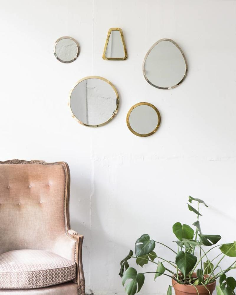 Gold colored cone mirror from Morocco