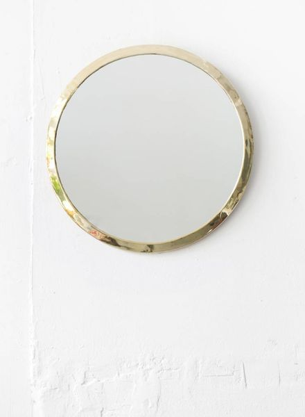 Gold Round Mirror from Morocco