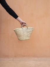 Handwoven straw bag - S