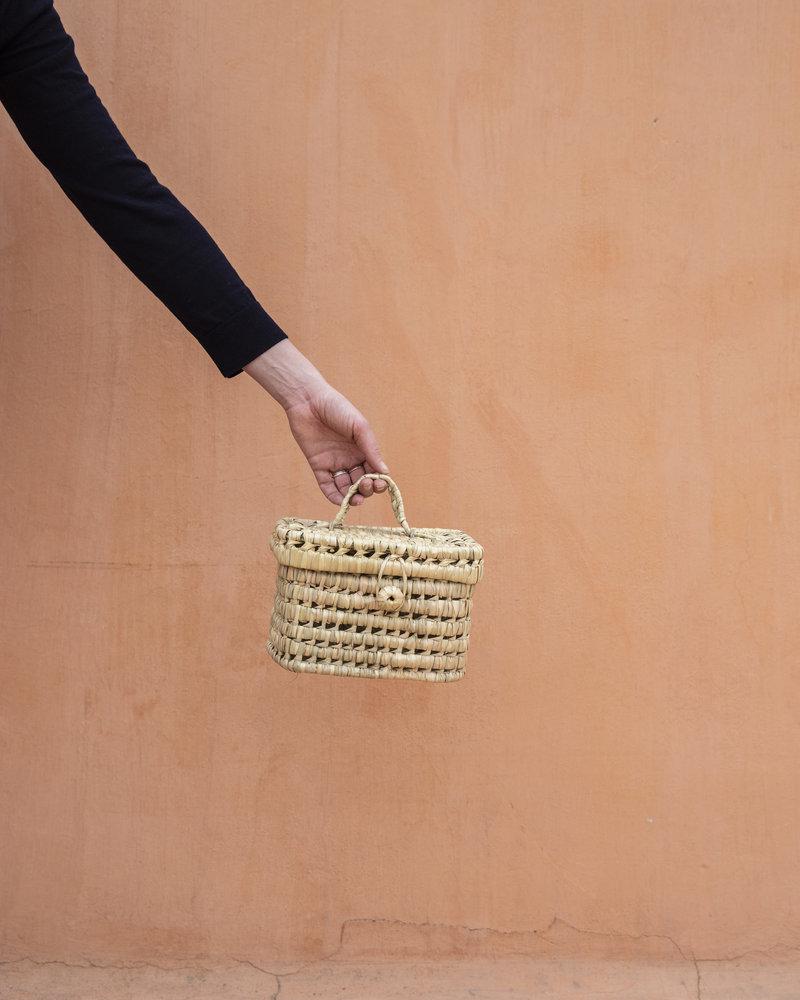 Moroccan reed basket handmade - S