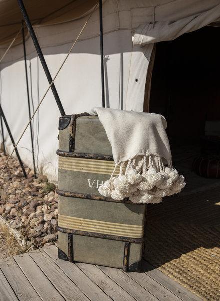 Berber pompom deken L