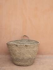 Handwoven straw bag - L