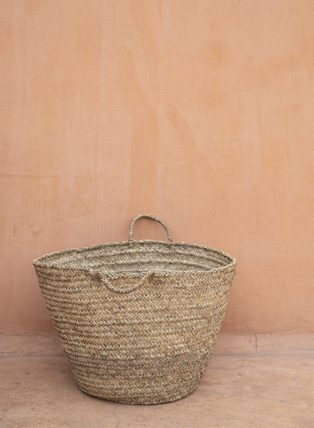 Handwoven straw bag - L
