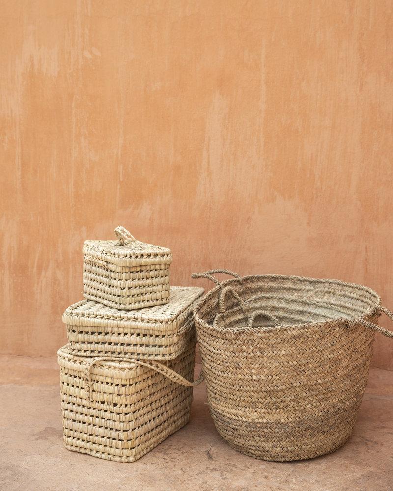 Handwoven straw bag - M