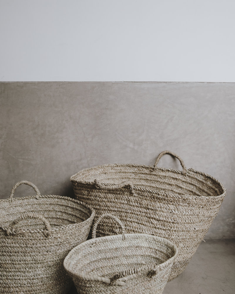 Handwoven straw bag - S