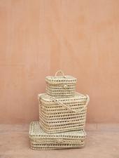 Handwoven palm leaf basket - S - PRE ORDER