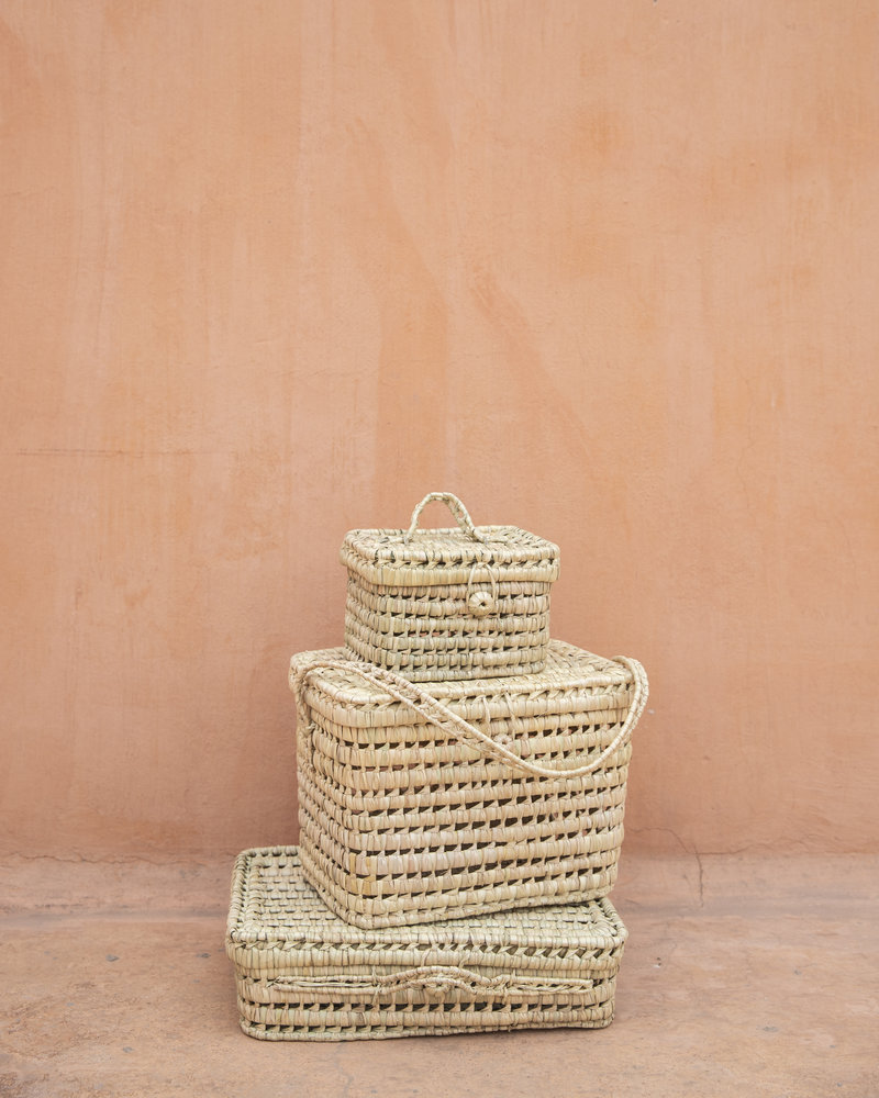 Reed Morrocan basket handmade - M