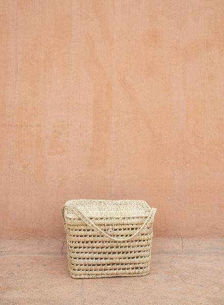 Handwoven palm leaf basket - L - PRE ORDER