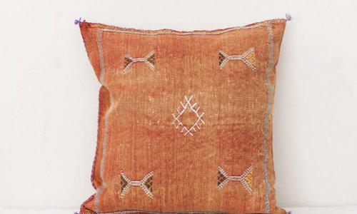Vegan silk cactus pillow