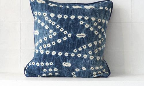 Vintage mud cloth pillows