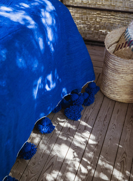 Berber pompom deken XL