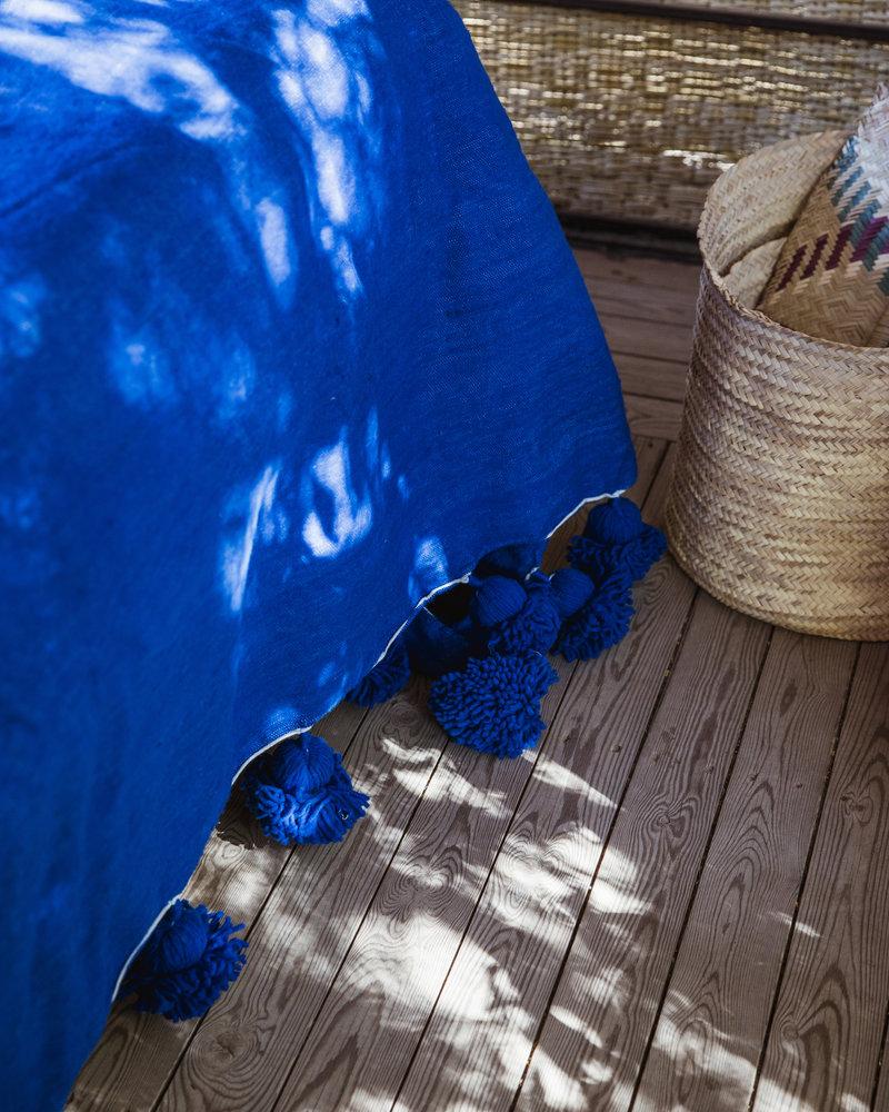 PRE ORDER Handgemaakte Berber pompom deken XL