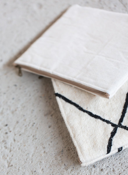 MoiTu laptop sleeve off white cotton