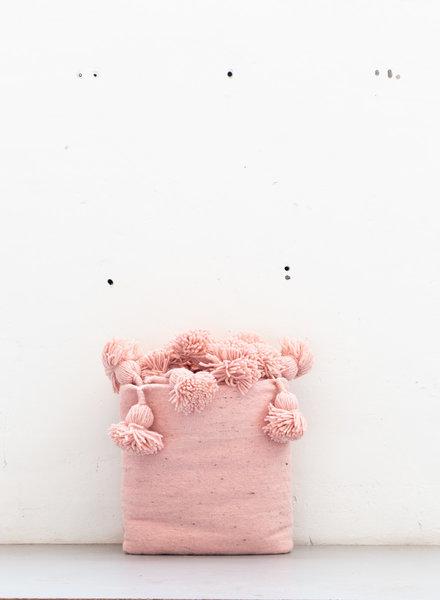 The Souks x Dappermaentje - Berber pompom blanket Pink