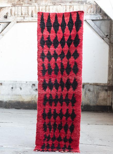 Azilal vloerkleed - rood met zwart