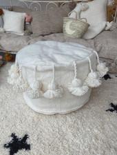 The Souks x Dappermaentje - Handmade pouf off white