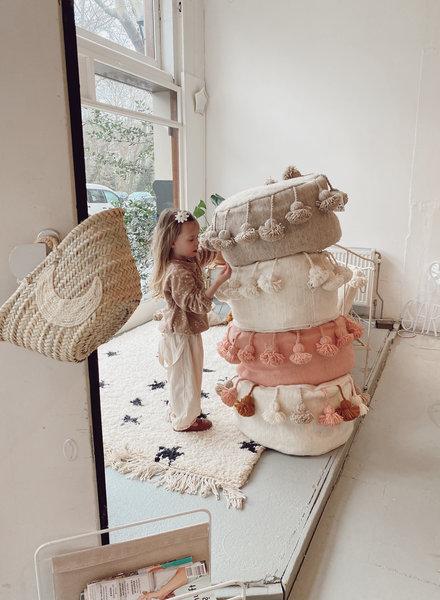 The Souks x Dappermaentje - Handmade pouf pink