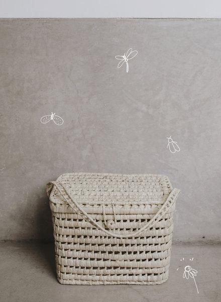 Handwoven palm leaf basket - L