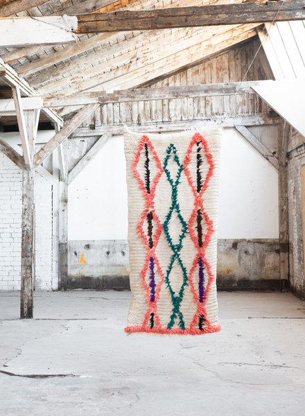 Azilal tapijt - beige met kleur