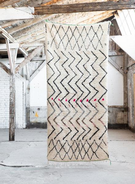 Azilal tapijt - met zigzag patroon