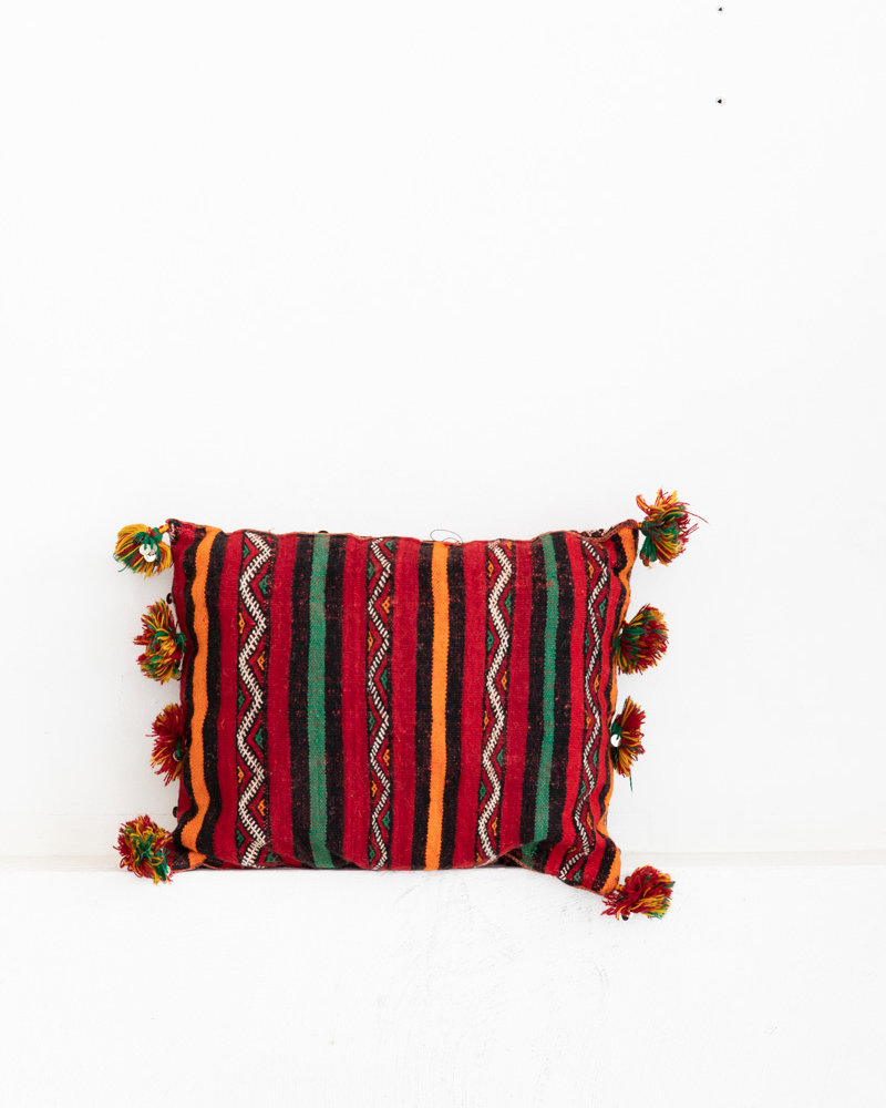 unique vintage Berber pillow from Morocco