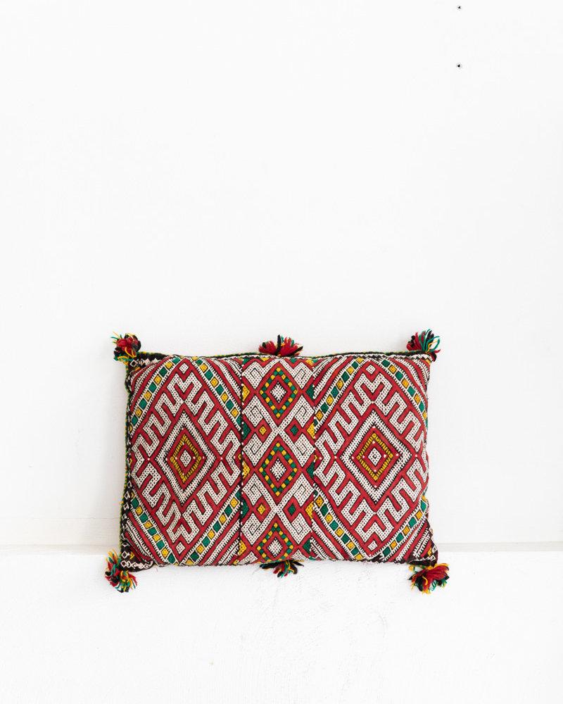 Uniek vintage Berber kussen uit Marokko