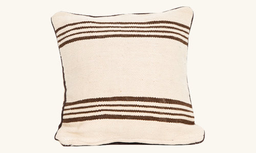 Striped berber pillows