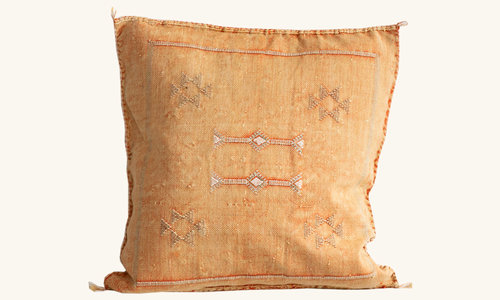 Vegan Sabra silk cactus pillow