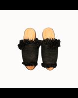 SAMPLE SALE - Raffia slipper black - 36