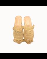 SAMPLE SALE - Raffia slipper sand - size 36