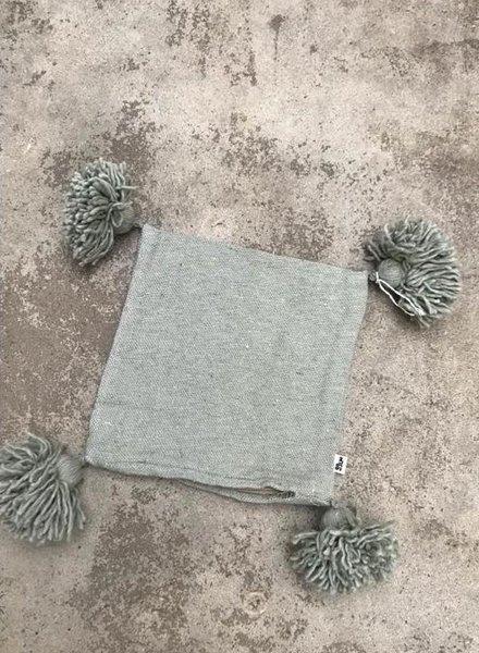 SAMPLE SALE - pompom pillowcase