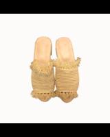 SAMPLE SALE - Raffia slipper sand - size 39