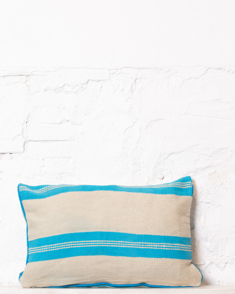 Authentic striped Berber pillow from Morocco 296