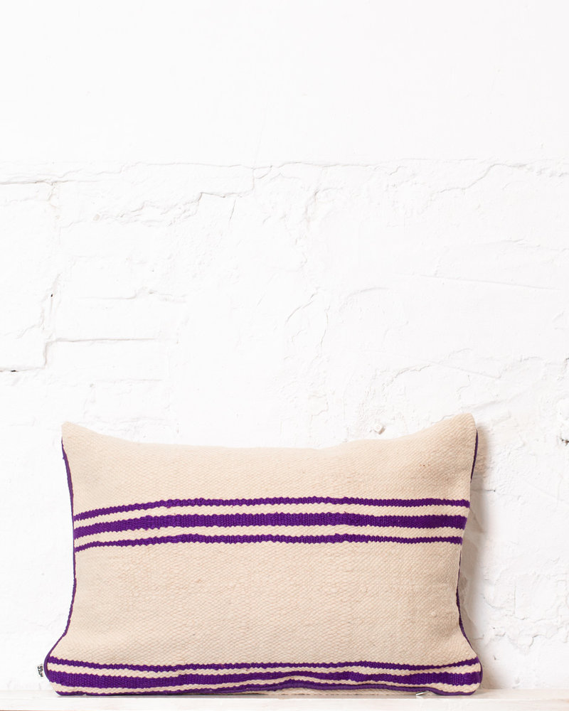 Authentic striped Berber pillow from Morocco 300